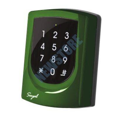 SOYAL AR-725K Kártyaolvasó és kódbillentyűzet hálózathoz vagy önálló vezérlőkhöz zöld