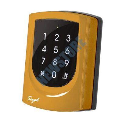 SOYAL AR-725K Mifare Kártyaolvasó és kódbillentyűzet hálózathoz vagy önálló vezérlőkhöz narancs