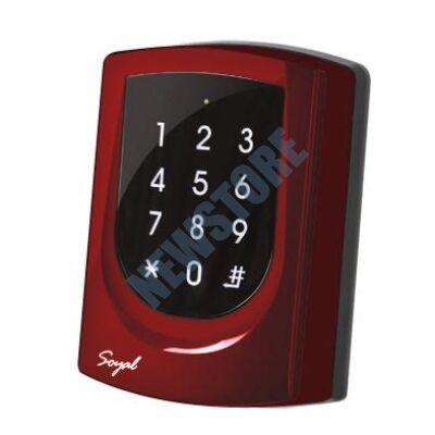 SOYAL AR-725K Mifare Kártyaolvasó és kódbillentyűzet hálózathoz vagy önálló vezérlőkhöz piros