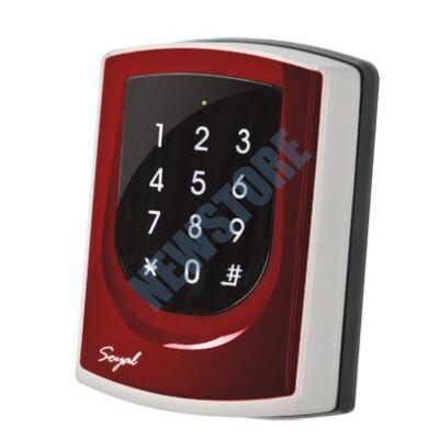 SOYAL AR-725KM Mifare Kártyaolvasó és kódbillentyűzet hálózathoz/önálló vezérlőkhöz piros