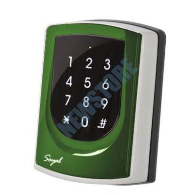 SOYAL AR-725KM Mifare Kártyaolvasó és kódbillentyűzet hálózathoz/önálló vezérlőkhöz zöld
