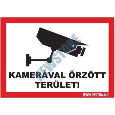 Matrica 3 A5 KAMERÁVAL őRZÖTT TERÜLET