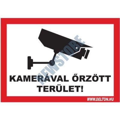 Matrica üvegre 3 A4 KAMERÁVAL őRZÖTT TERÜLET