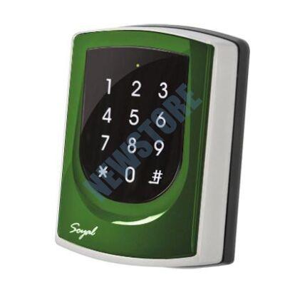 SOYAL AR-725ED-M Mifare Önálló 2 ajtós vezérlő zöld fémkeret 109814