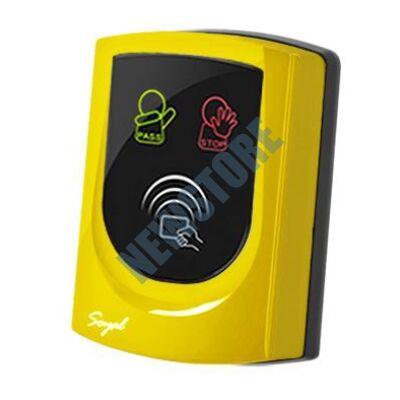 SOYAL AR-725UD-W Közelítőkártyás segédolvasó beléptetőrendszerekhez sárga