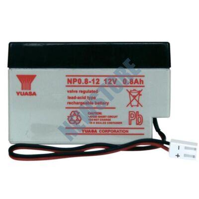 YUASA 12V 0,8Ah Zselés ólom akkumulátor 113211