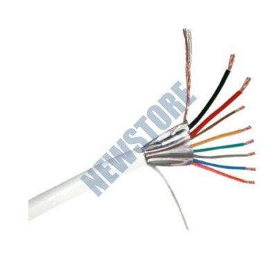Erősített 2 x 0.5 + 6 x 0.22 CCA biztonságtechnikai kábel