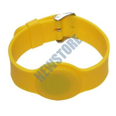 SOYAL AM Wristband No.6 13.56 MHz sárga Proximity szilikon karkötő