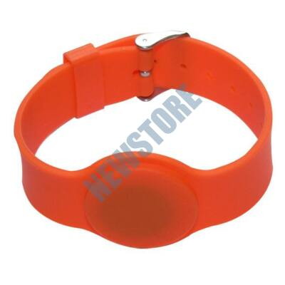 SOYAL AM Wristband No.6 13.56 MHz narancs Proximity szilikon karkötő