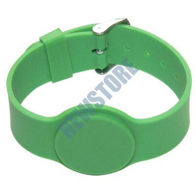 SOYAL AM Wristband No.6 13.56 MHz zöld Proximity szilikon karkötő