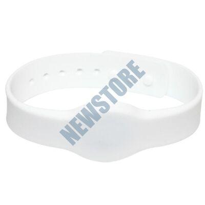 SOYAL AM Wristband No.4 13.56 MHz fehér Proximity szilikon karkötő