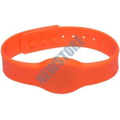 SOYAL AM Wristband No.4 13.56 MHz narancs Proximity szilikon karkötő