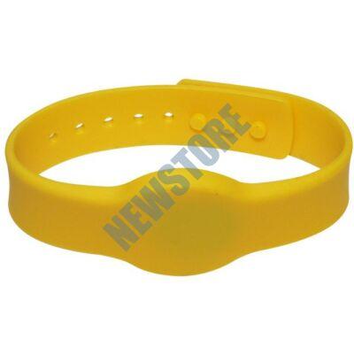 SOYAL AM Wristband No.4 13.56 MHz sárga Proximity szilikon karkötő