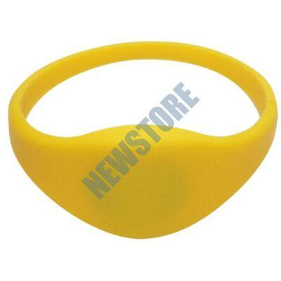 SOYAL AM Wristband No.3 13.56 MHz sárga Proximity szilikon karkötő