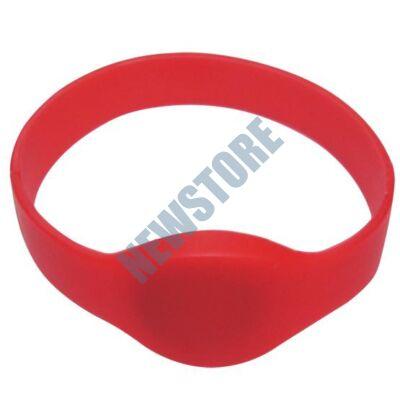 SOYAL AM Wristband No.2 13.56 MHz piros Proximity szilikon karkötő