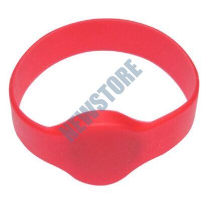 SOYAL AM Wristband No.1 13.56 MHz piros Proximity szilikon karkötő