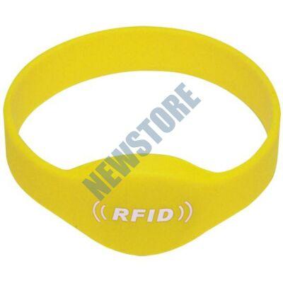SOYAL AM Wristband No.2 13.56 MHz sárga Proximity szilikon karkötő