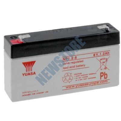 YUASA 6V 1,2Ah Zselés ólom akkumulátor 113653