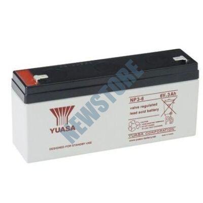YUASA 6V 3Ah Zselés ólom akkumulátor 113654