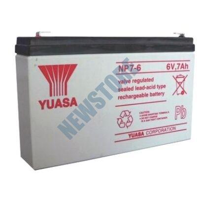 YUASA 6V 7Ah Zselés ólom akkumulátor 113656