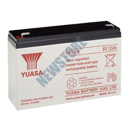 YUASA 6V 12Ah Zselés ólom akkumulátor 113657