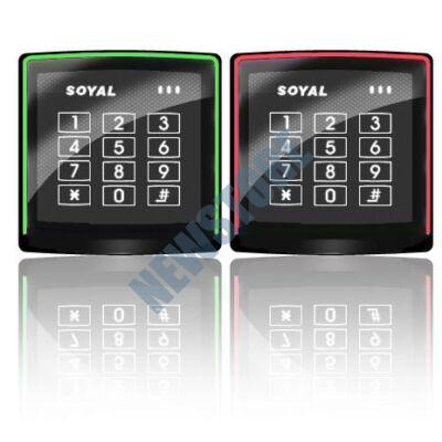 SOYAL AR-888K Mifare Kártyaolvasó és kódbillentyűzet önálló vezérlőkhöz fekete
