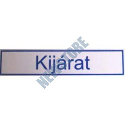 JKH Tábla műanyag 20 x 4,5 cm KIJÁRAT 3427115