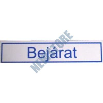 JKH Tábla műanyag 20 x 4,5 cm BEJÁRAT 3427116