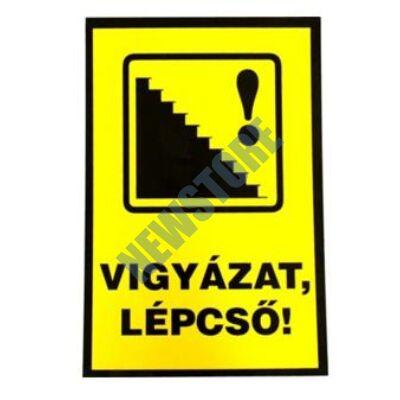 JKH Tábla műanyag A4 VIGYÁZAT,LÉPCSő! 3427148