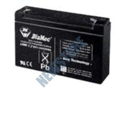 DIAMEC 6V 7,2Ah Zselés ólom akkumulátor