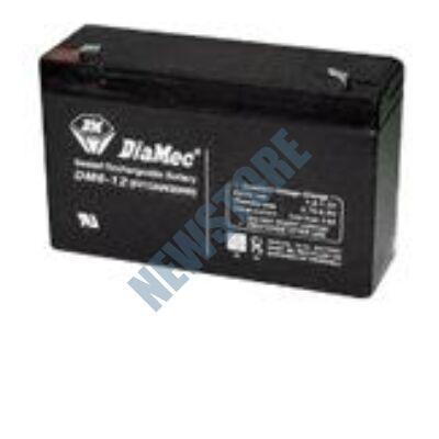 DIAMEC 6V 12Ah Zselés ólom akkumulátor