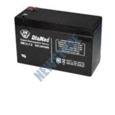 DIAMEC 12V 7Ah Zselés ólom akkumulátor