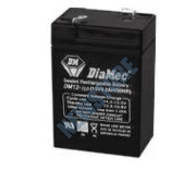 DIAMEC 6V 4,5Ah Zselés ólom akkumulátor