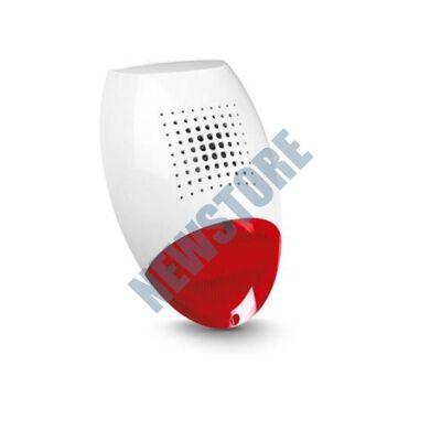 SATEL SP500R Kültéri piezo hang- fényjelző vörös színű SP 500 R