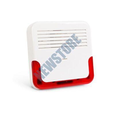 SATEL SP6500R Kültéri piezo hang- fényjelző piros SP 6500 R