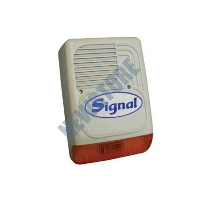SIGNAL PS-128 7 hangú kültéri hang-fényjelző szabotázsvédett fémházban PS128