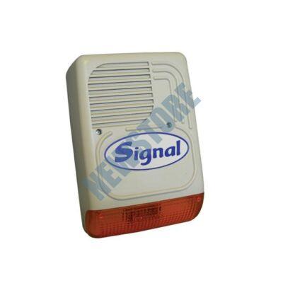 SIGNAL PS-128 AL 7 hangú Kültéri hang-fényjelző szabotázsvédett fémházban PS128AL
