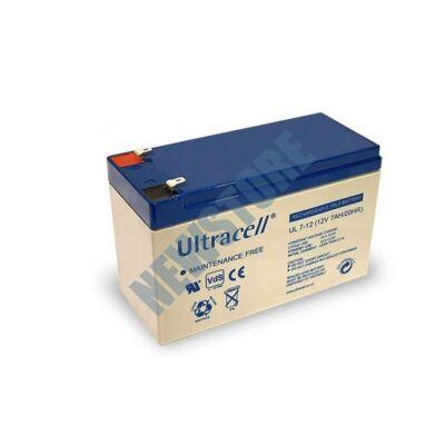 ULTRACELL 12V 7Ah Zselés ólom akkumulátor