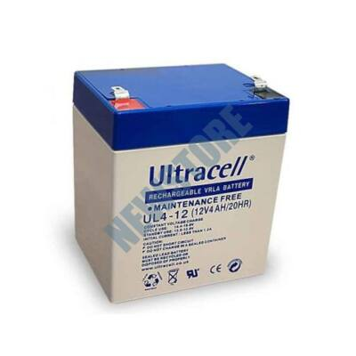 ULTRACELL 12V 4Ah Zselés ólom akkumulátor