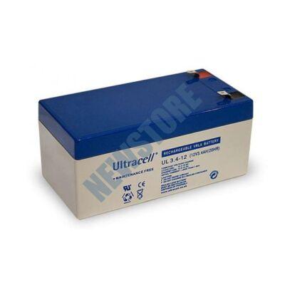 ULTRACELL 12V 3,4Ah Zselés ólom akkumulátor