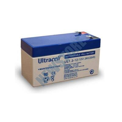 ULTRACELL 12V 1,3Ah Zselés ólom akkumulátor