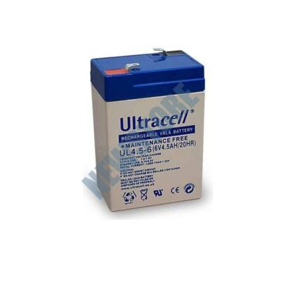 ULTRACELL 6V 4,5Ah Zselés ólom akkumulátor