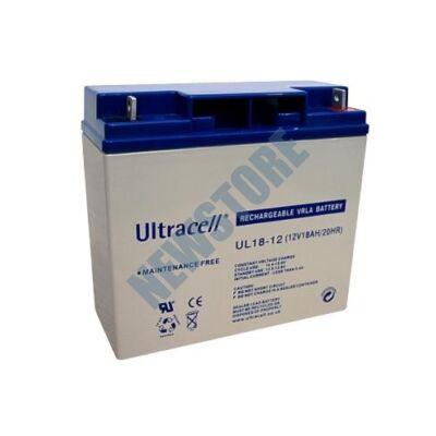 ULTRACELL 12V 18Ah Zselés ólom akkumulátor