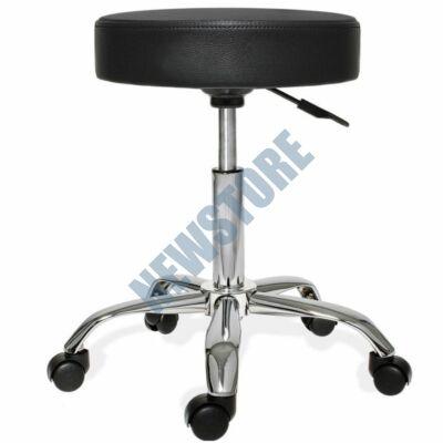 Gurulós kozmetikai szék állítható magassággal fekete