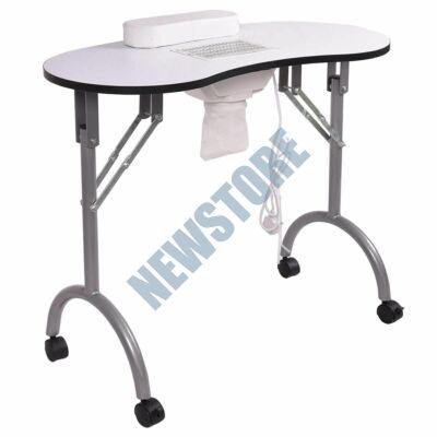 Mobil manikűr asztal porelszívóval hordtáskával fehér HOP1000905-1