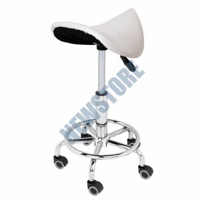 Nyerges gurulós kozmetikai szék fehér HOP1000966-2