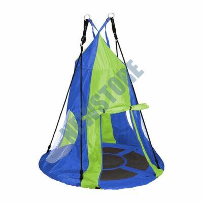 Fészekhinta 110cm sátorral kék HOP1001106-1