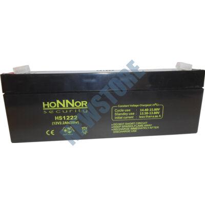 HONNOR 12V 2,2Ah zselés ólom akkumulátor 117947
