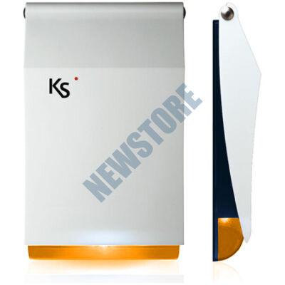 Ksenia imago wls fehér/narancs Kültéri hang- és fényjelző 118132