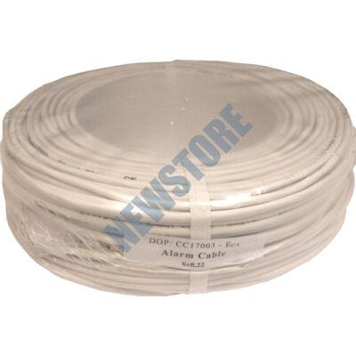 6 x 0.22 eres biztonságtechnikai kábel réz 116700
